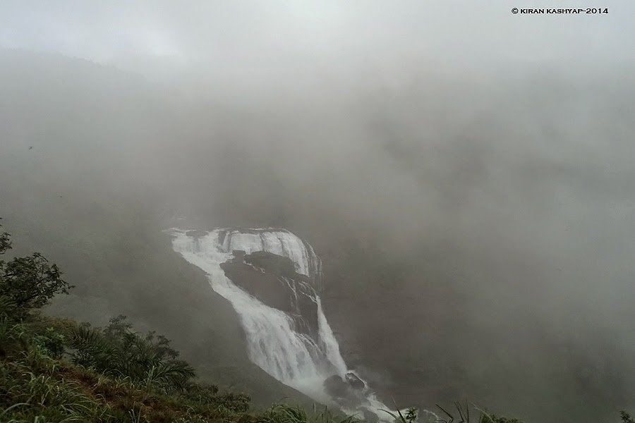 Surrounded by Mist with Mallali Falls, Kumara Parvatha