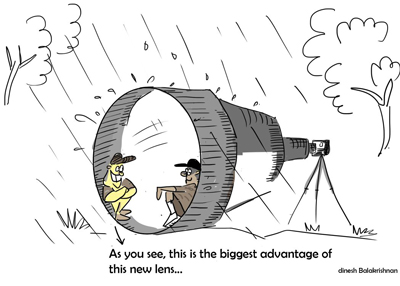 Big Lens Advantages, Wilderhood Recitals Chapter Laughing Dove, Wildlife Cartoons by Dinesh Balakrishnan